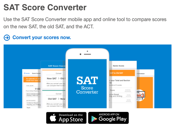 SAT Score Converter Tool - College Board - VHS Guidance