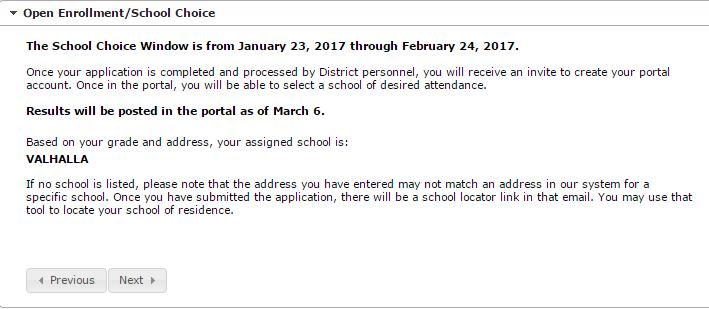Open Enrollment/School Choice