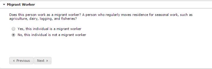 Parent/Guardian Migrant Worker