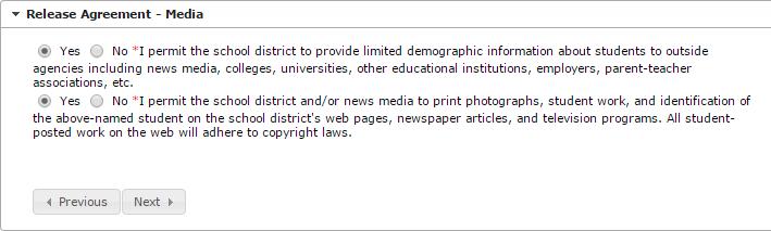Student Release Agreement - Media