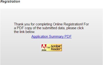 Student Application Summary pdf