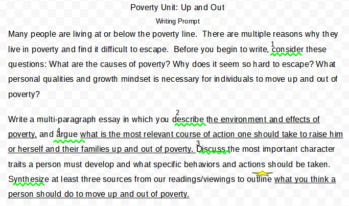 my writing process fadi shaba digital portfolio the poverty prompt told us to consider these questions what are the causes of poverty why does it seem so hard to escape what personal qualities and