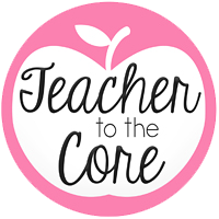 graphic image of apple that says Teacher to the Core