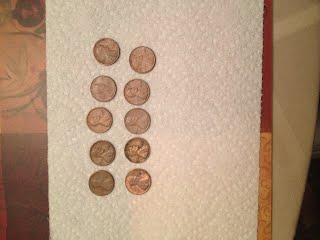 How do you clean copper pennies?