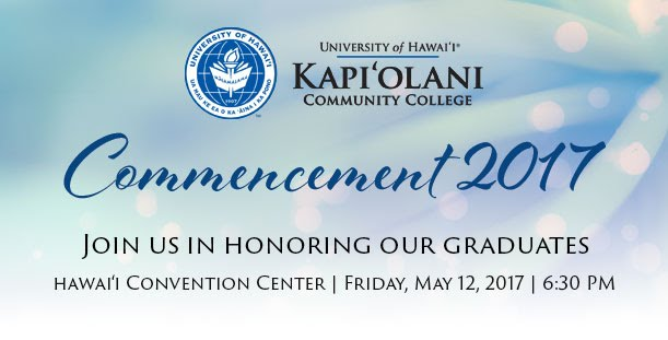 Commencement Save the Date: May 12, 2017 at 6:30 pm