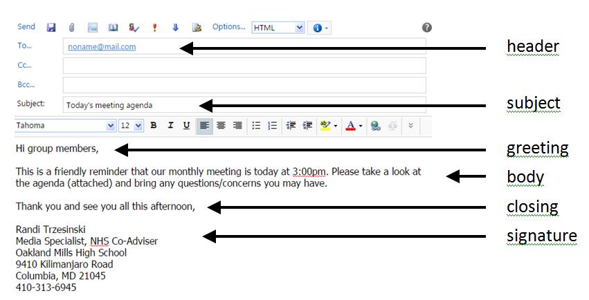 Proper email etiquette scorps tech 101 proper email etiquette m4hsunfo