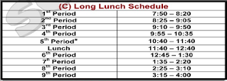 Long Lunch Schedule C