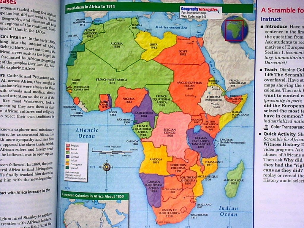 Map Of Africa 1914 Imperialism 70707 Usbdata