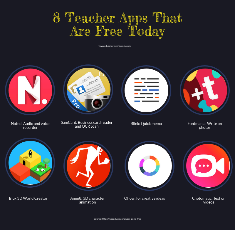 https://www.educatorstechnology.com/2018/03/8-teacher-apps-that-are-free-today.html