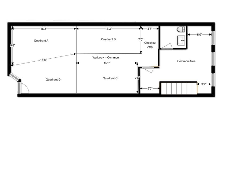 Retail Space Floor Plan Start Here