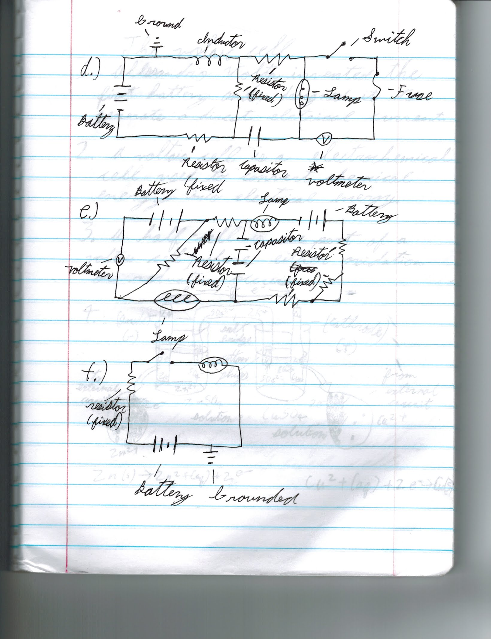 Resistors In A Series Circuit Alexander Peters Digital Portfolio This Diagram I Draw And Label All The Different Parts To It Below Is Key Symbols Used On My Resemble