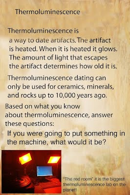 Thermoluminescence dating archaeology