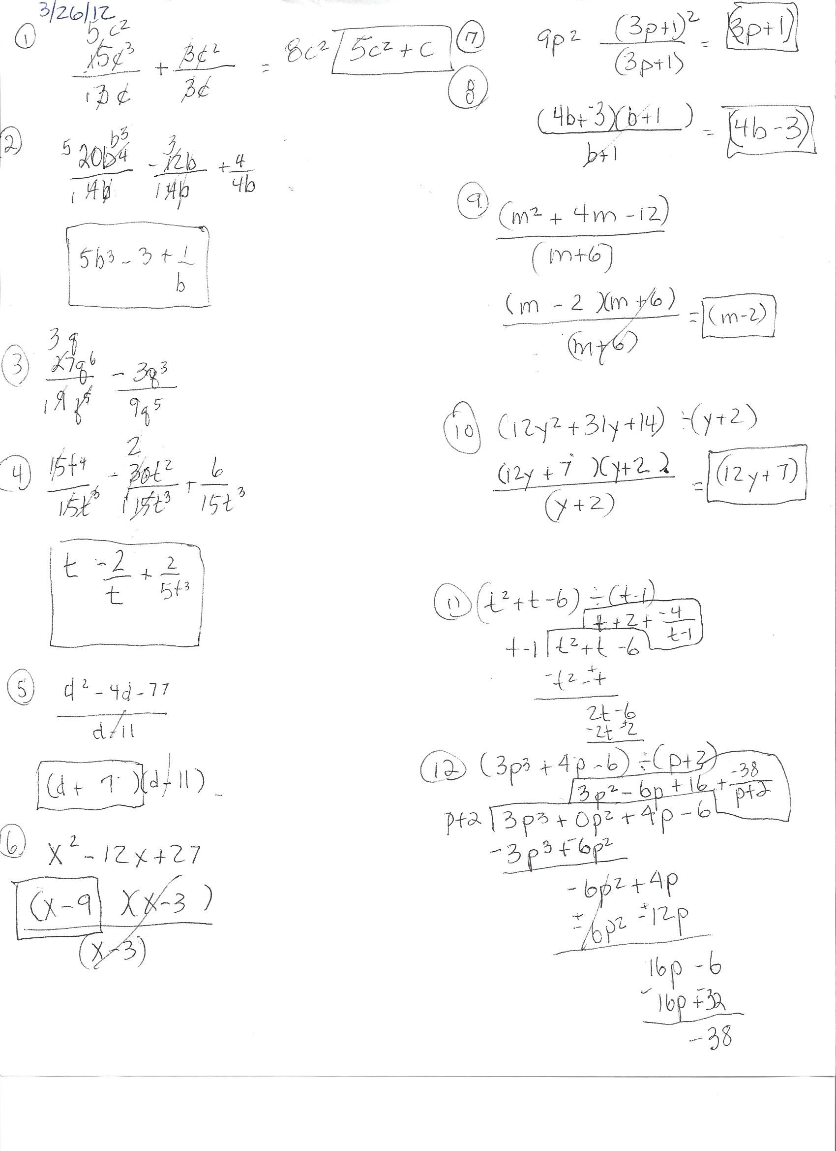 worksheet Algebra 1 algebra 1 hhsresourceprogram homework page 70 in workbook 03 26 12 jpg