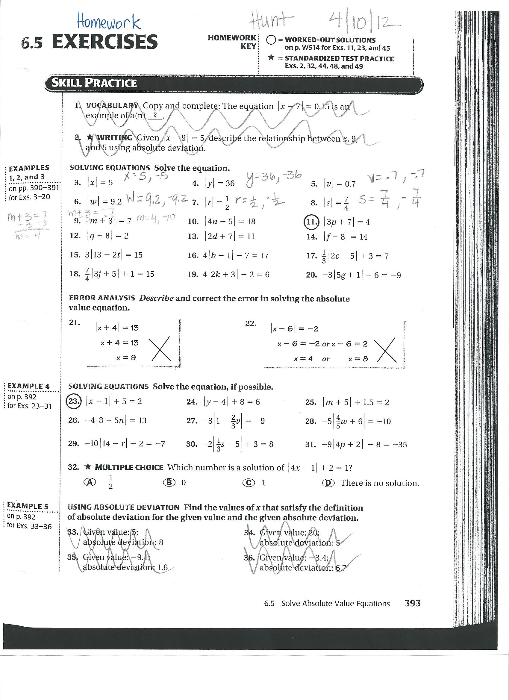 Algebra 1 homework help and answers