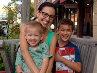 Mrs. Lafontaine with her boys!