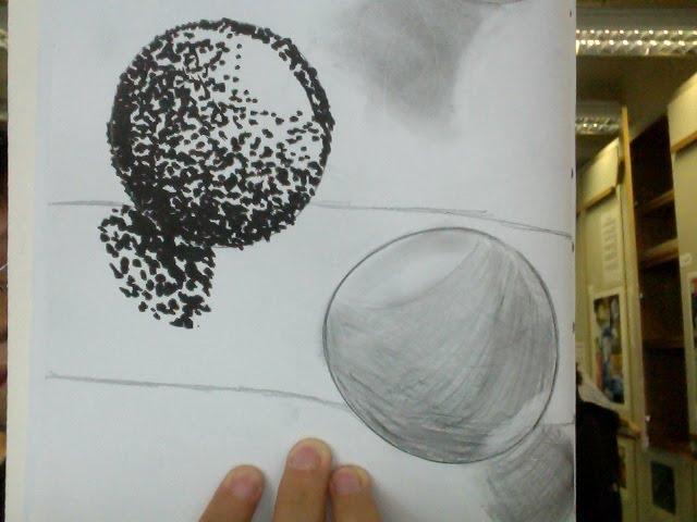 shading cross hatching stippling spheres darren y art portfolio