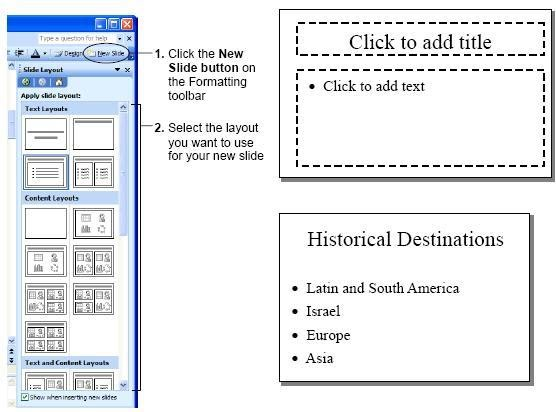 creating a simple bulleted list slide powerpoint