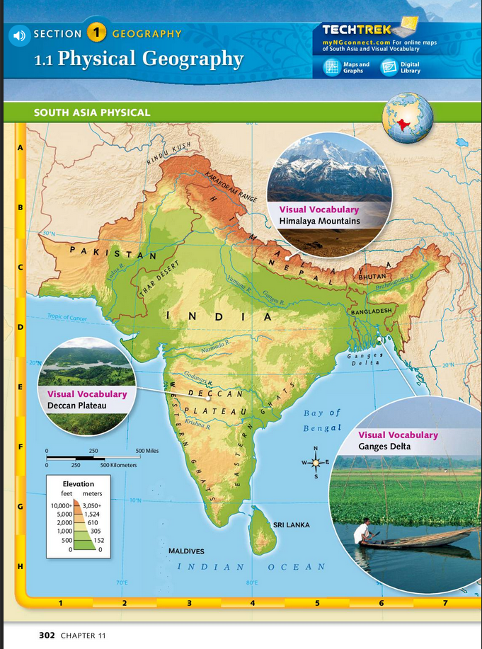 6th Grade Map Of Asia.South Asia Physical Geography 6th Grade Social Studies