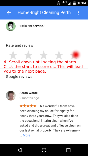 Review us on mobile step 5