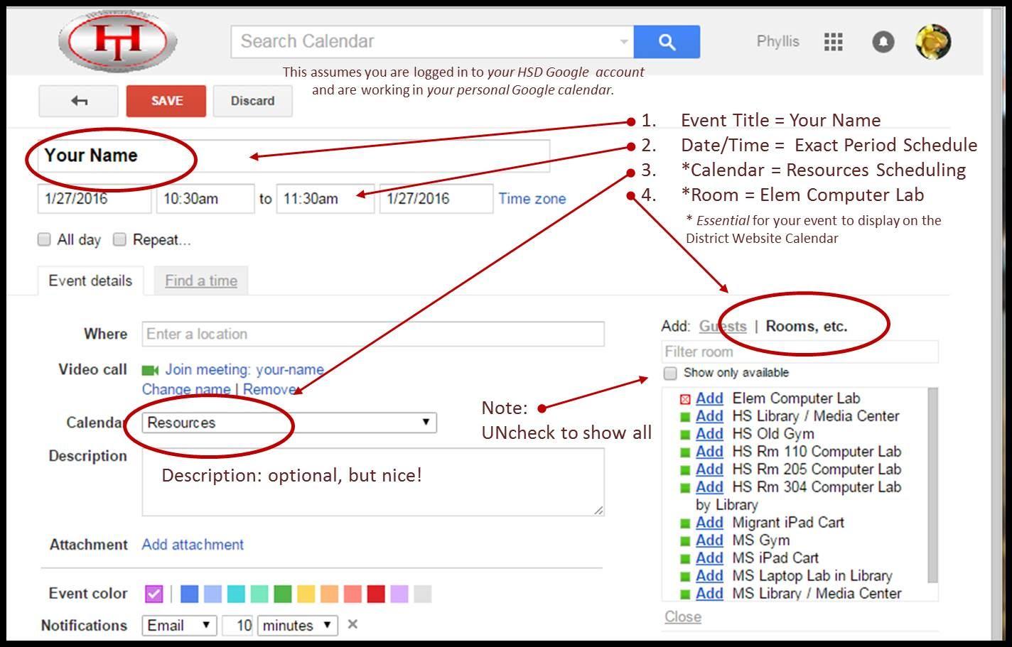 hsd resource scheduling calendars hsd edtech gone google
