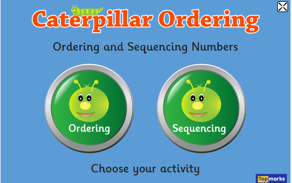https://www.topmarks.co.uk/ordering-and-sequencing/caterpillar-ordering