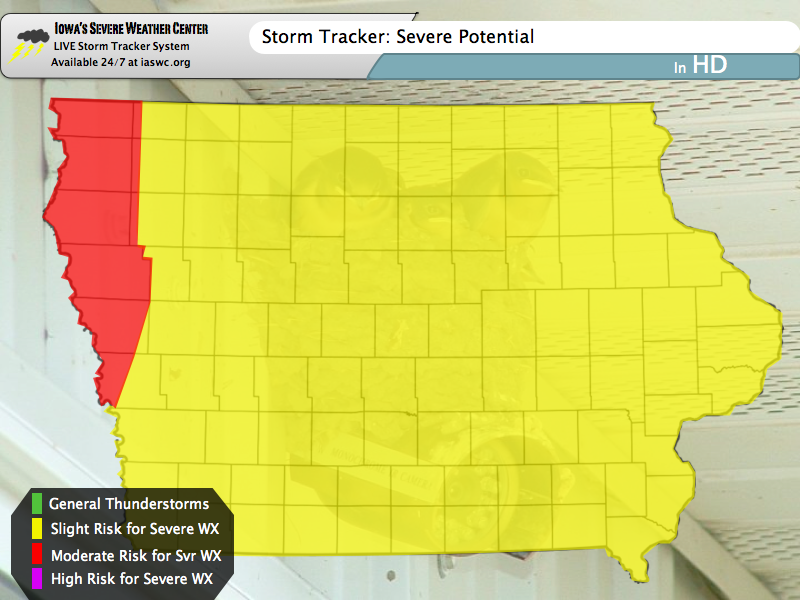 NOON UPDATE: Moderate Risk for Western Iowa; Primary Threat is Damaging Winds
