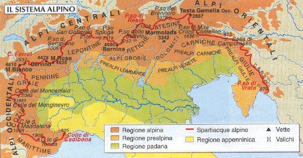 Cartina Fisica Italia Valichi.La Formazione Delle Alpi Lessons Tes Teach