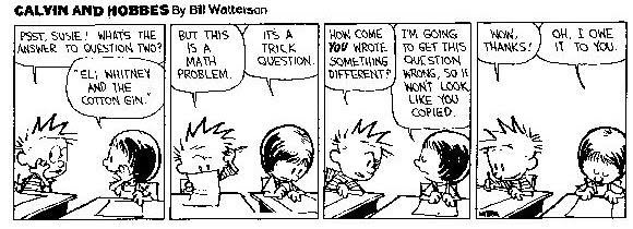 Image result for calvin and hobbes and math