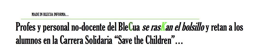 "Carrera ""Save the Children"""