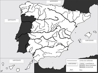 Mapa Fisico Peninsula Iberica Rios.Mapas