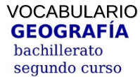 Vocabulario de Geografía