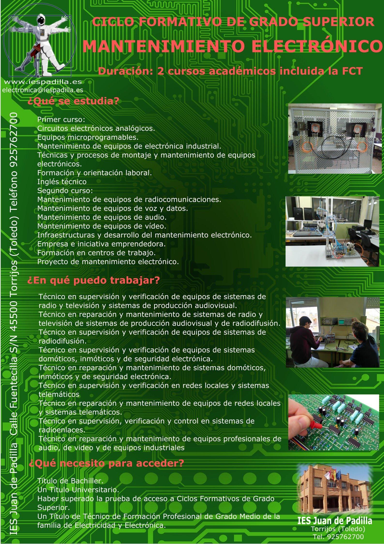 CFGS Mantenimiento Electrónico
