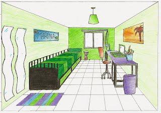 3 eso educaci n pl stica y visual dibujo arcas - Habitacion en perspectiva conica ...
