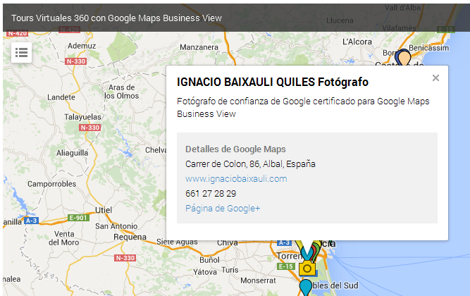 Tours Virtuals en Google Maps Business View