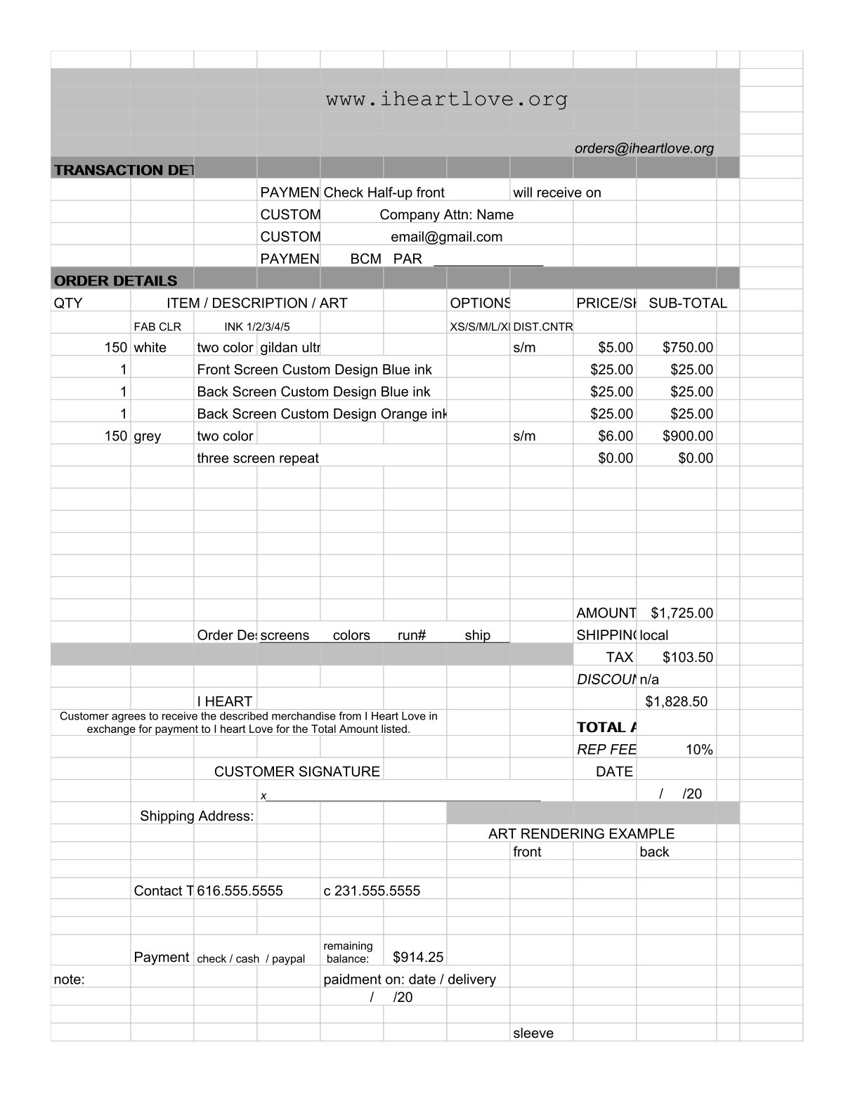 Film Invoice Templates Images - Film invoice template