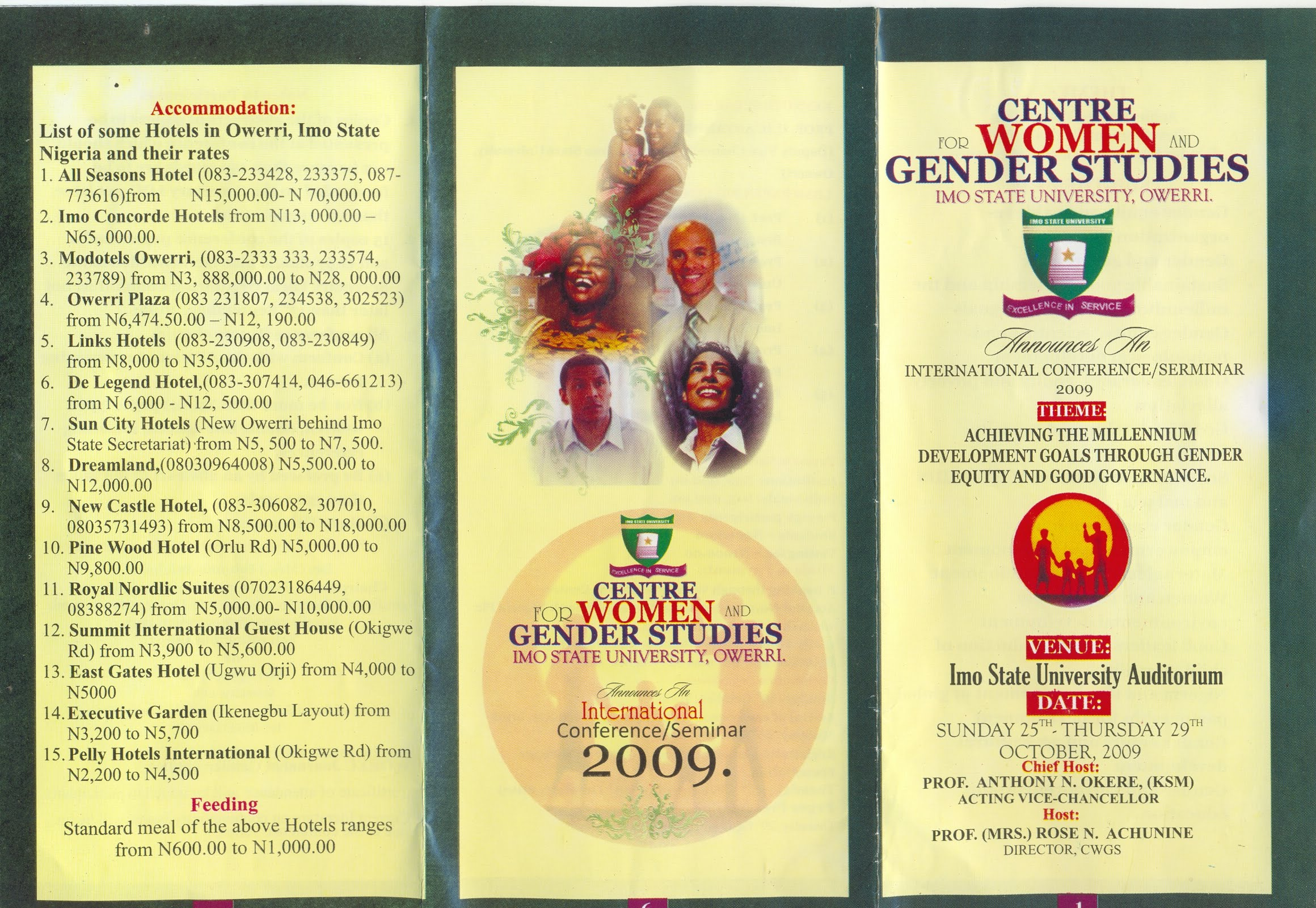 CENTER FOR WOMEN AND GENDER STUDIES (CWGS), IMSU - IMO STATE