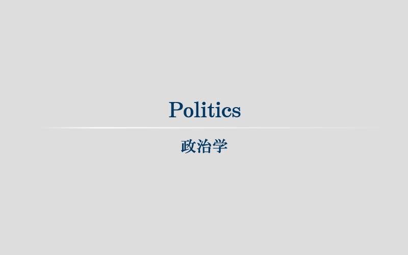 Politics 政治学