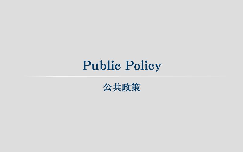 Public Policy 公共政策
