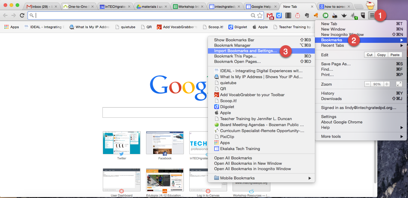 how do i import my bookmarks from internet explorer to chrome