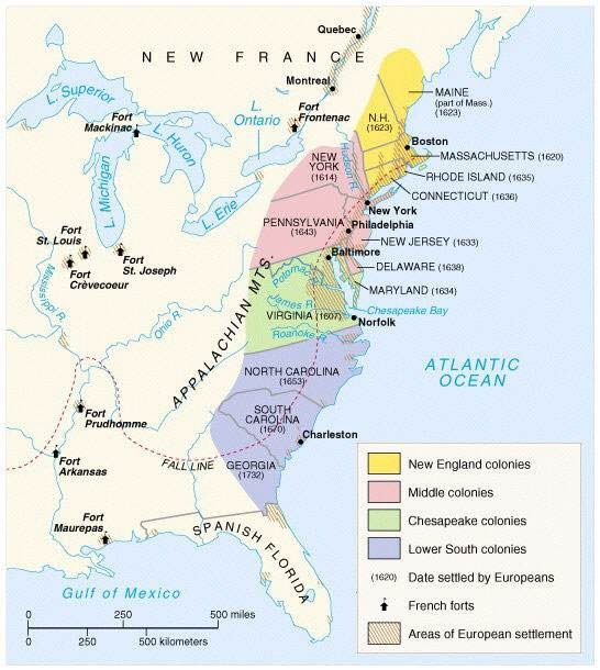 Map Of The Original 13 Colonies original 13 colonies web quest   Mr. Seebach's Web Page