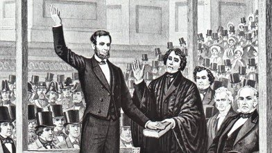 Lincoln Sworn In For First Presidential Term 1861