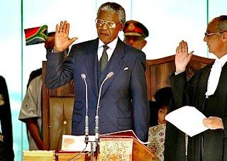 Image result for nelson mandela inauguration 1994
