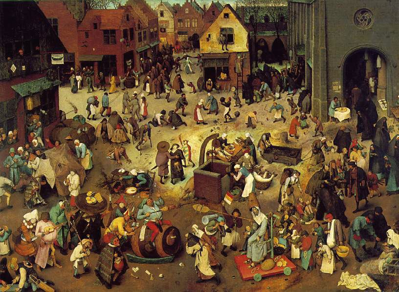 This Is A Famous Painting Of Carnival In Town Square