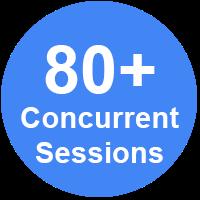 80 plus concurrent sessions