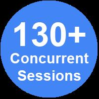 130+ Concurrent Sessions