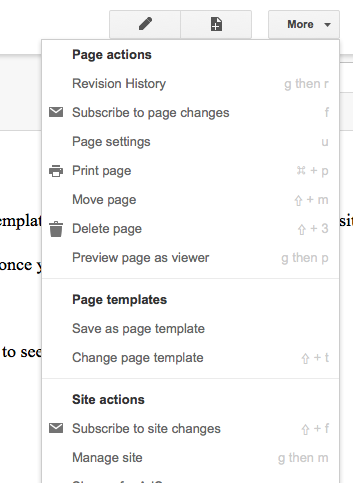 Create a Template - Google Sites Help