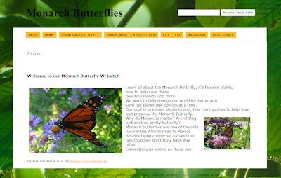 1st place Butterfly Project Website