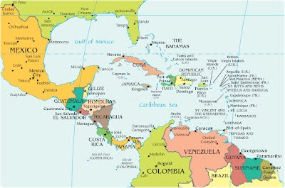 Pictures Caribbean And Central America - Map of us and central america