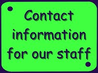 Contact information for our staff