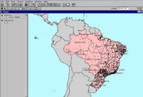 This Dot Distribution Map Shows The Population In Brazil